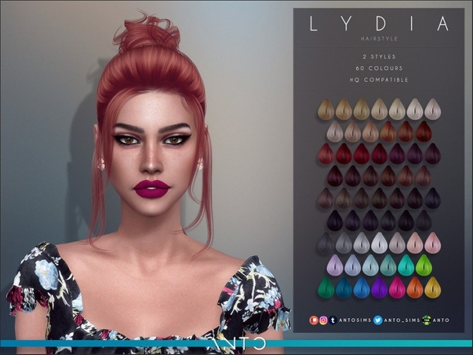 Sims 4 Lydia Hairstyle by Anto at TSR
