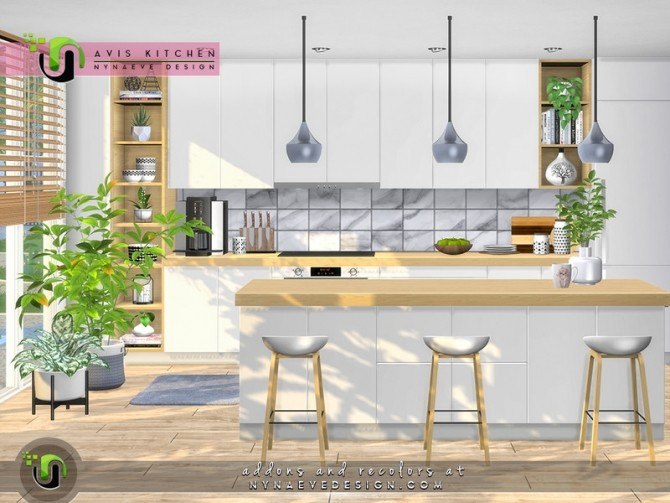 Avis Kitchen by NynaeveDesign at TSR image 6723 670x503 Sims 4 Updates