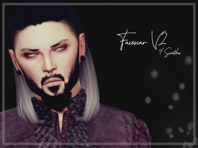 Facescar V2 by Reevaly at TSR image 6810 670x503 Sims 4 Updates