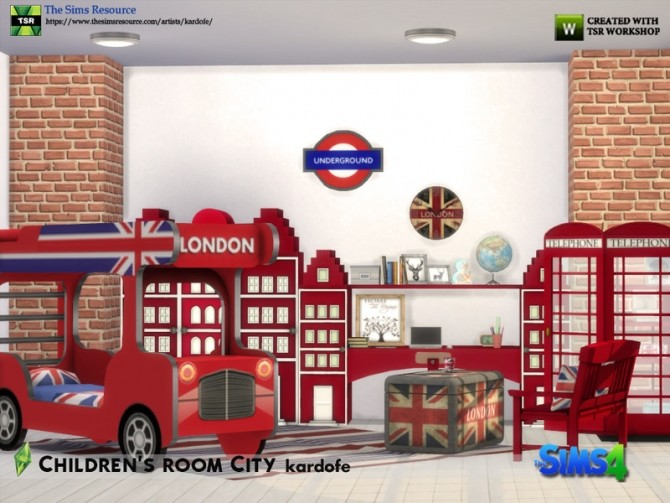 Childrens room City by kardofe at TSR image 6813 670x503 Sims 4 Updates
