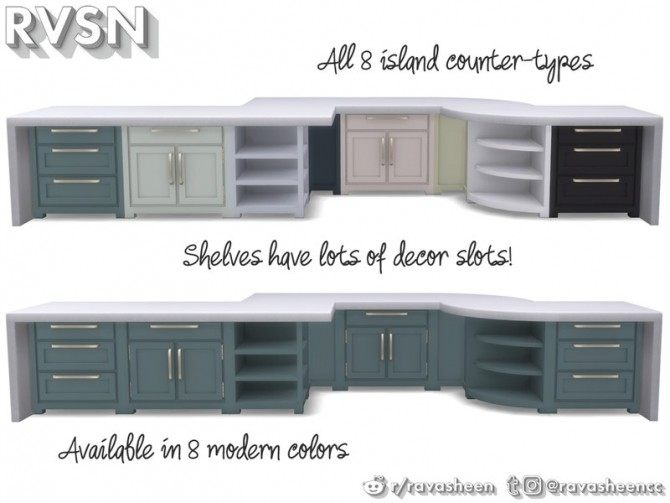 Simmer Down Kitchen Counter Set by RAVASHEEN at TSR image 69 670x503 Sims 4 Updates