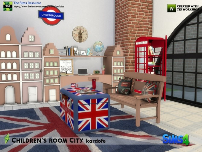 Childrens room City by kardofe at TSR image 6913 670x503 Sims 4 Updates