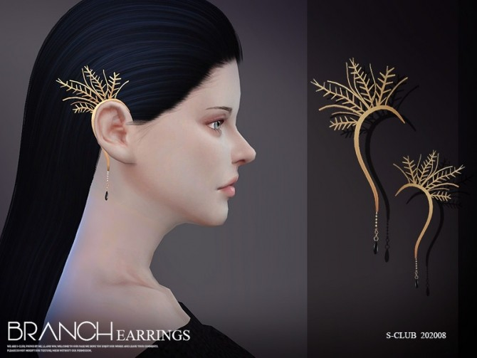 EARRINGS 202008 by S Club LL at TSR image 6921 670x503 Sims 4 Updates
