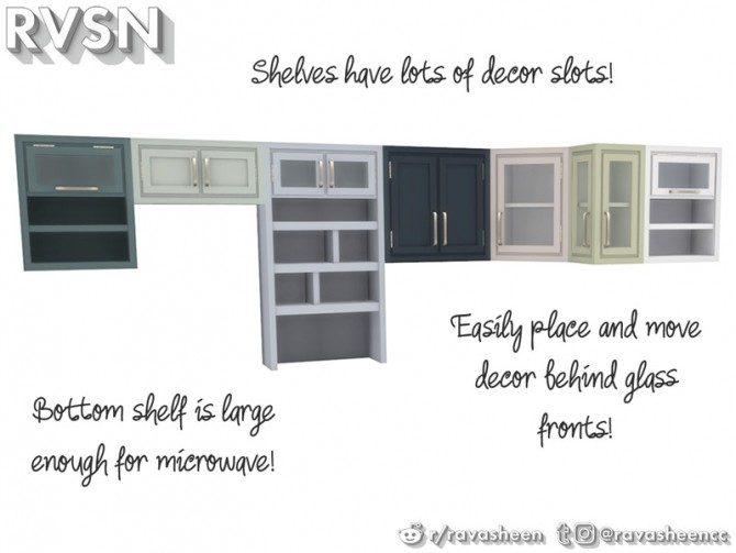 Simmer Down Kitchen Counter Set by RAVASHEEN at TSR image 70 670x503 Sims 4 Updates