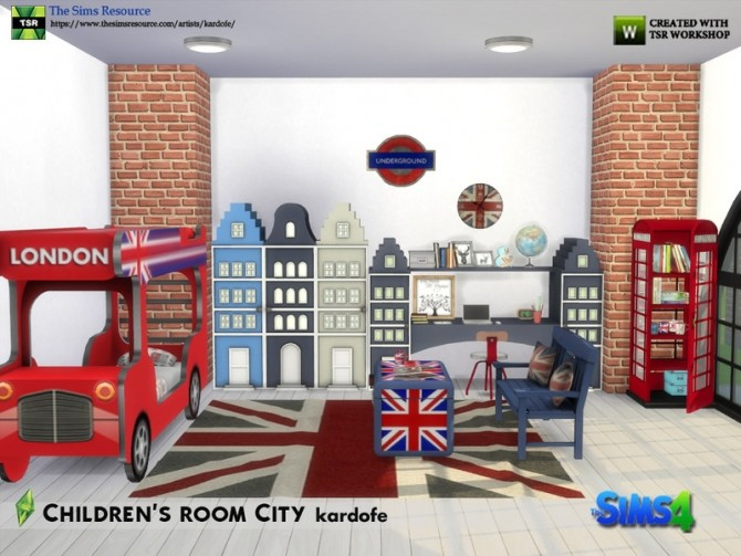 Childrens room City by kardofe at TSR image 7013 670x503 Sims 4 Updates