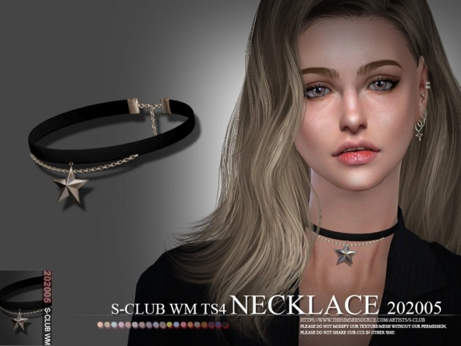 Sims 4 Necklace 202005 by S Club WM at TSR