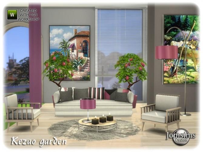 Sims 4 Kezao garden by jomsims at TSR