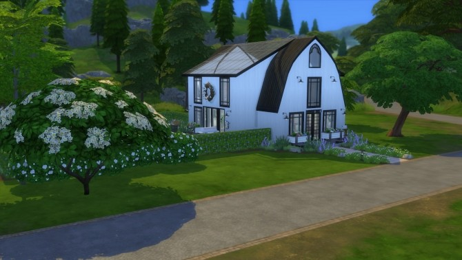 Sims 4 Renovated Barn Home NO CC by zhepomme at Mod The Sims