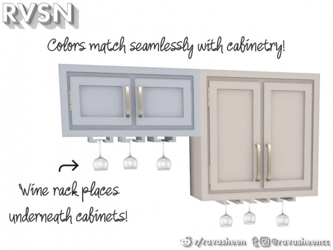 Simmer Down Kitchen Counter Set by RAVASHEEN at TSR image 71 670x503 Sims 4 Updates