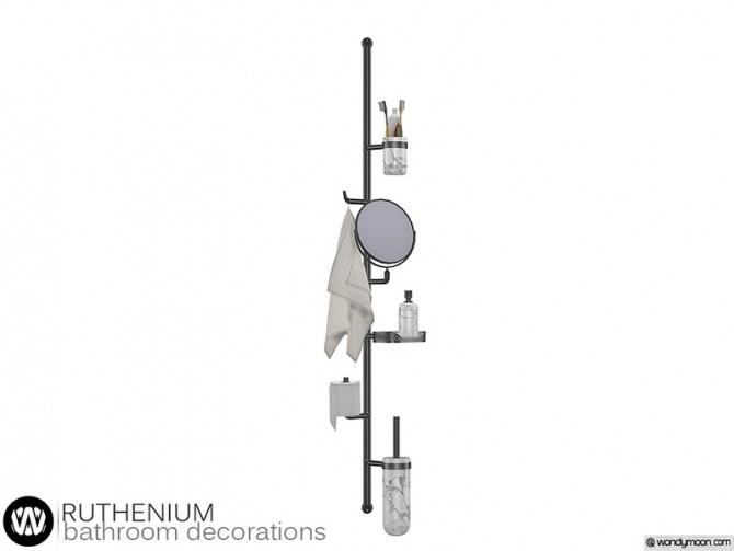 Sims 4 Ruthenium Bathroom Decorations by wondymoon at TSR