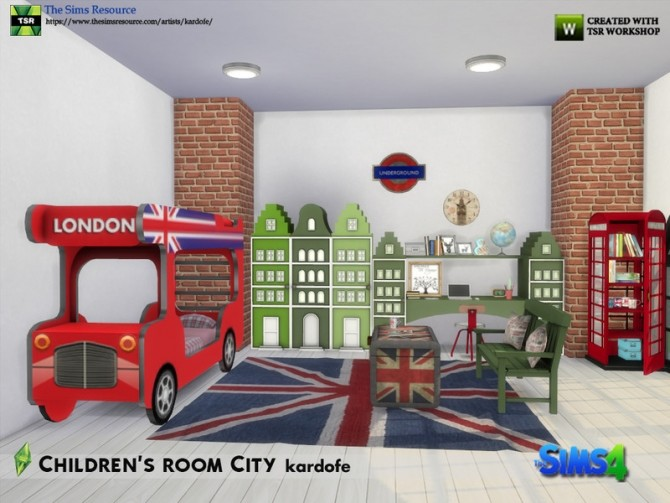 Childrens room City by kardofe at TSR image 7117 670x503 Sims 4 Updates