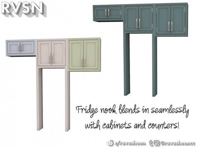 Sims 4 Simmer Down Kitchen Counter Set by RAVASHEEN at TSR