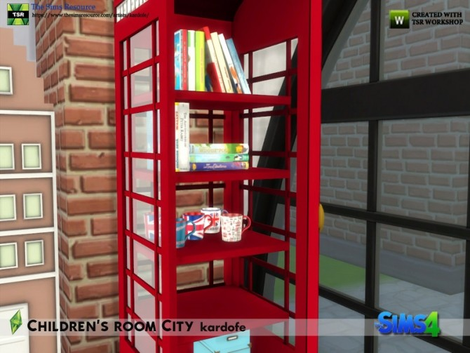 Childrens room City by kardofe at TSR image 7214 670x503 Sims 4 Updates