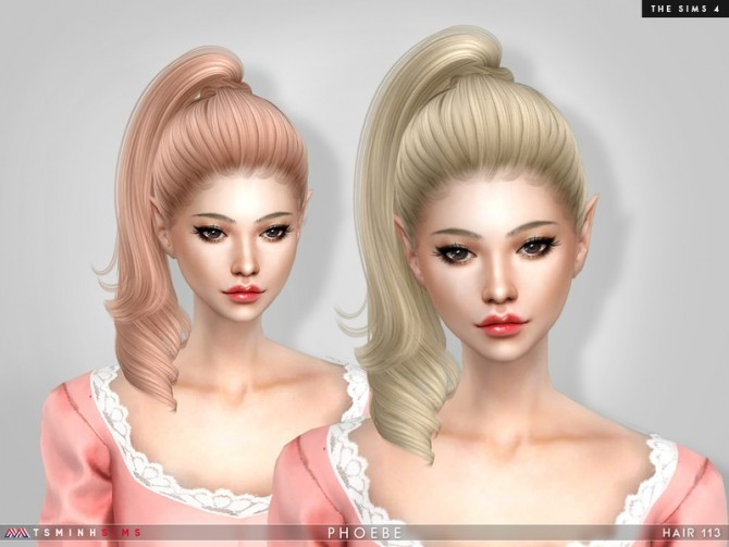 Phoebe Hair 113 by TsminhSims at TSR image 73 670x503 Sims 4 Updates