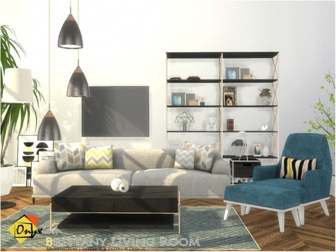 Brittany Living Room by Onyxium at TSR image 7417 670x503 Sims 4 Updates