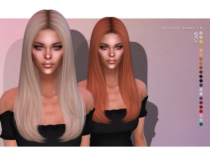 Sims 4 Spicy HAIR by Nightcrawler at TSR