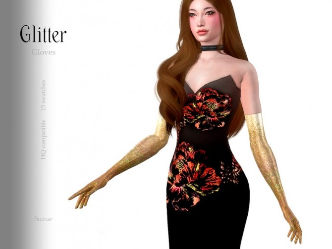 Sims 4 Glitter Gloves by Suzue at TSR