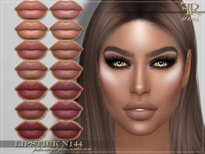 Sims 4 FRS Lipstick N144 by FashionRoyaltySims at TSR