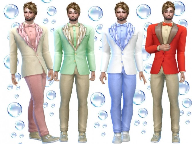 Sims 4 Velvet suit recolor by TrudieOpp at TSR