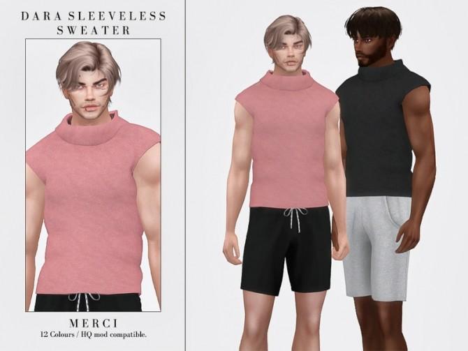 Sims 4 Dara Sleeveless Sweater by Merci at TSR