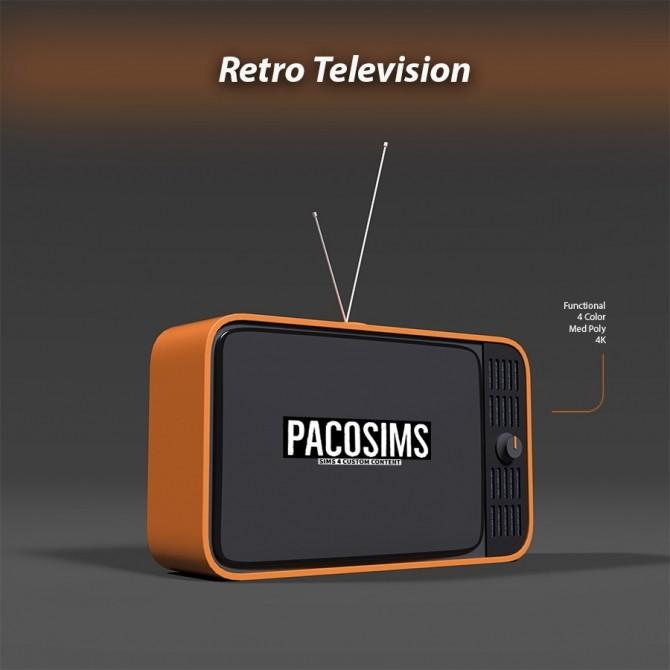 Sims 4 Retro Television (P) at Paco Sims