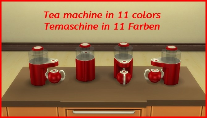 Tea maker by hippy70 at Mod The Sims image 7816 670x381 Sims 4 Updates