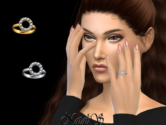 Sims 4 Open round halo ring by NataliS at TSR