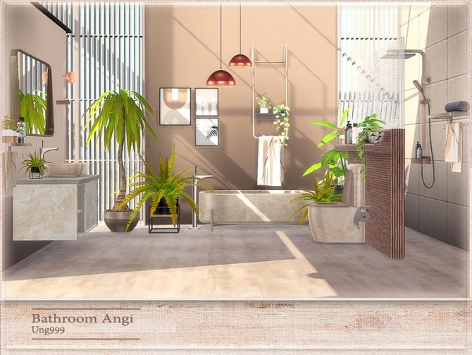 Angi Bathroom by ung999 at TSR image 8022 670x503 Sims 4 Updates