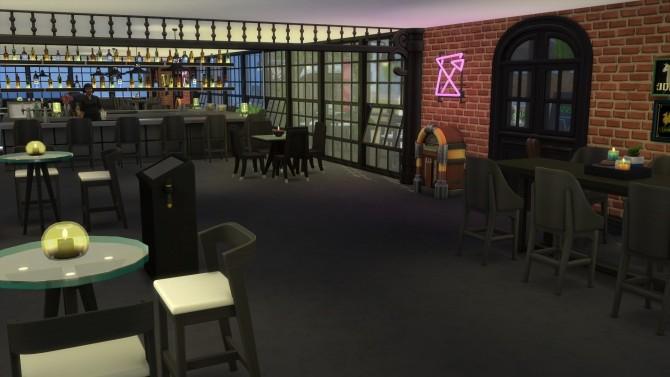 Sims 4 La Banana Molona Karaoke bar (No CC) by mamba black at Mod The Sims