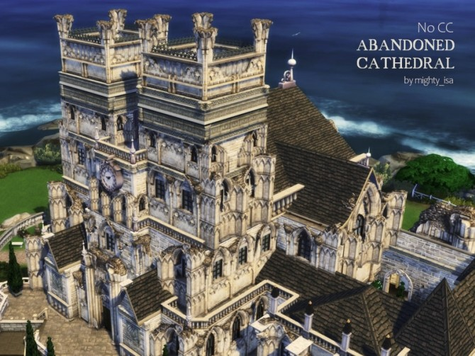 Sims 4 Abandoned Cathedral by VirtualFairytales at TSR