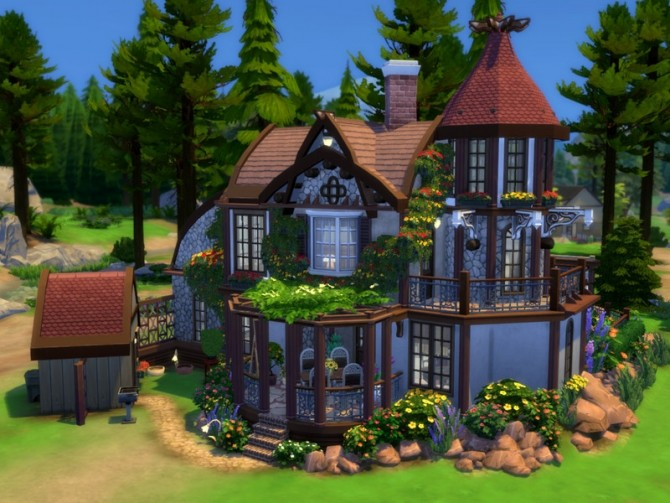 Secret Idyll small family home by VirtualFairytales at TSR image 8104 670x503 Sims 4 Updates