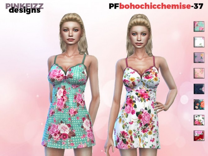 Sims 4 Boho Chic Chemise PF37 by Pinkfizzzzz at TSR