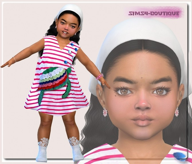 Sims 4 Turtles Dress for Toddler Girls at Sims4 Boutique