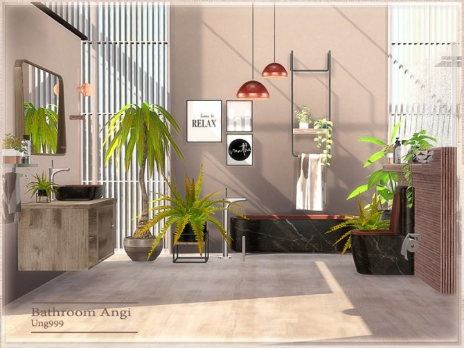 Angi Bathroom by ung999 at TSR image 8124 670x503 Sims 4 Updates