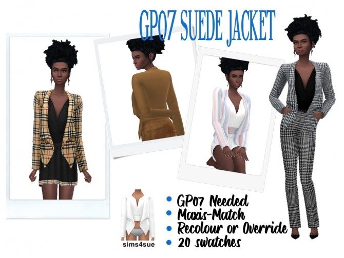 GP07 SUEDE JACKET at Sims4Sue image 833 670x503 Sims 4 Updates
