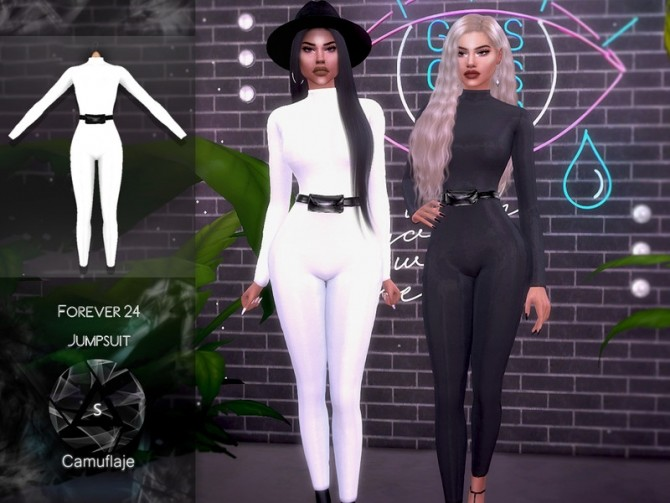 Forever 24 Jumpsuit by Camuflaje at TSR image 836 670x503 Sims 4 Updates