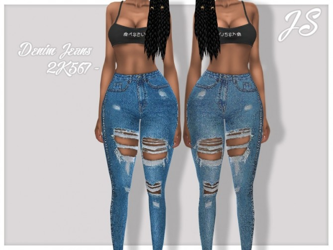 Sims 4 Denim Jeans 2K567 by JavaSims at TSR