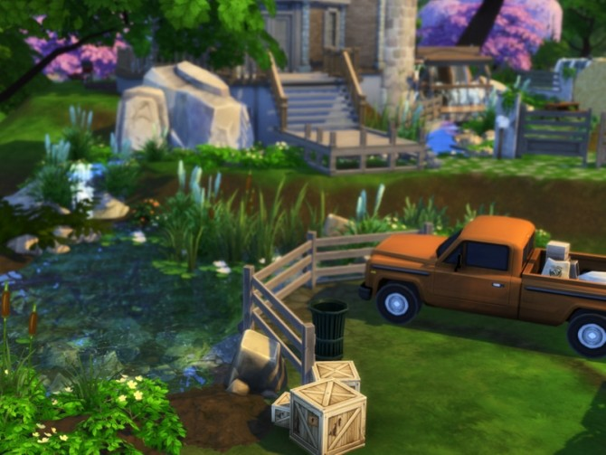 Sims 4 Base Game Watermill by VirtualFairytales at TSR