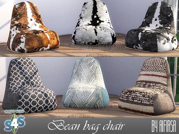 Sims 4 Bean bag chair at Aifirsa