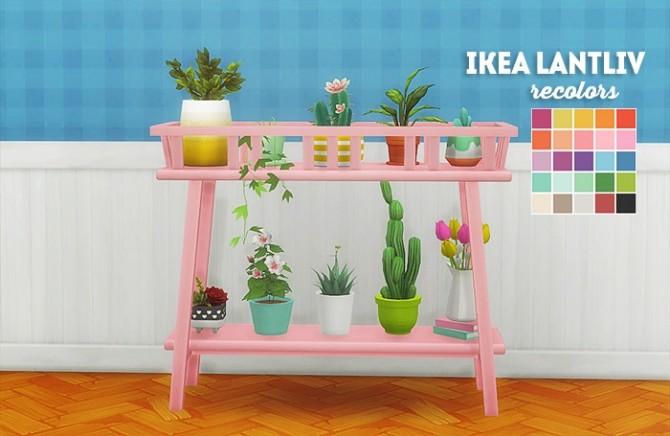 Sims 4 Recolors of o ni's IKEA lantliv plantstand at Lina Cherie