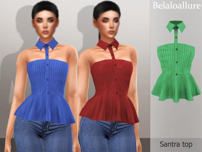 Belaloallure Santra top by belal1997 at TSR image 884 670x503 Sims 4 Updates