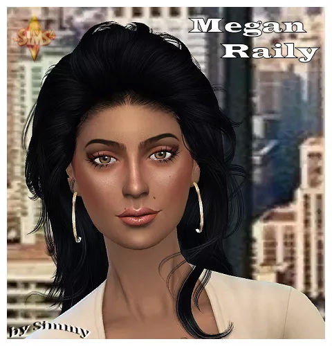 Sims 4 Megan Raily by Simmy at All 4 Sims