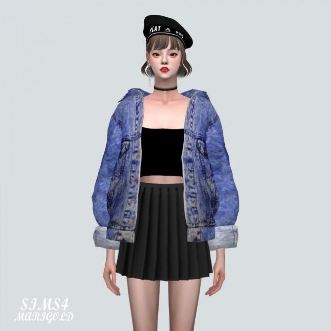 Sims 4 ABC Denim Jacket at Marigold
