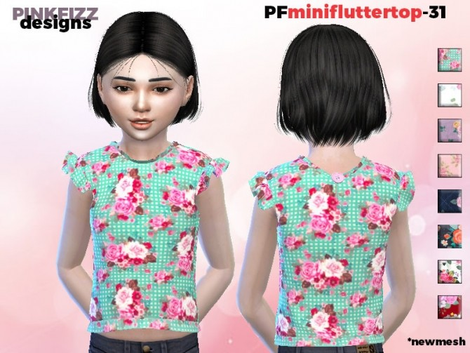 Sims 4 Mini Flutter Top PF31 by Pinkfizzzzz at TSR