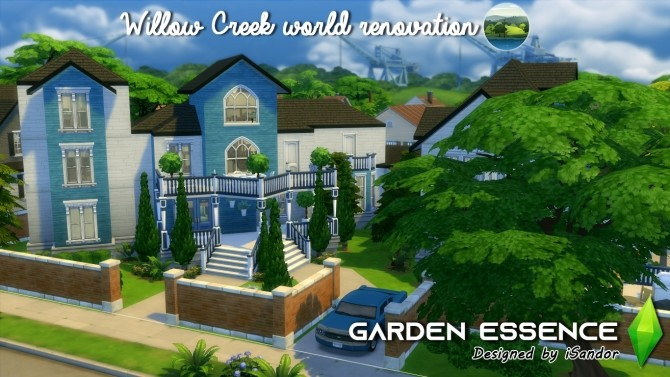 Sims 4 Garden Essence Willow Creek Renovation #14 NO CC by iSandor at Mod The Sims