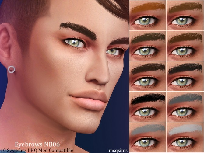 Sims 4 Eyebrows NB06 at MSQ Sims