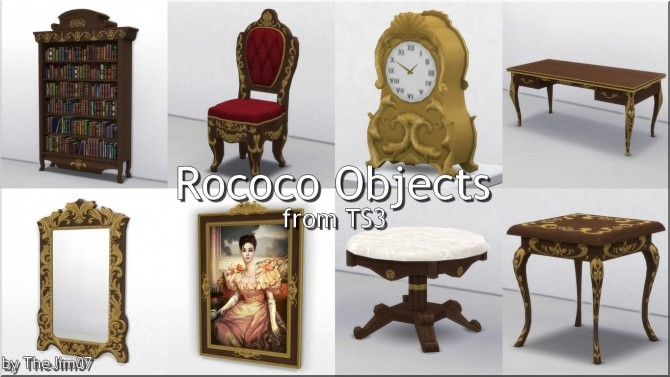 Sims 4 Rococo Objects from TS3 by TheJim07 at Mod The Sims