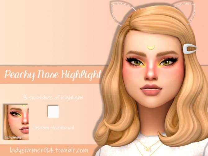 Peachy Nose Highlight by LadySimmer94 at TSR image 945 670x503 Sims 4 Updates