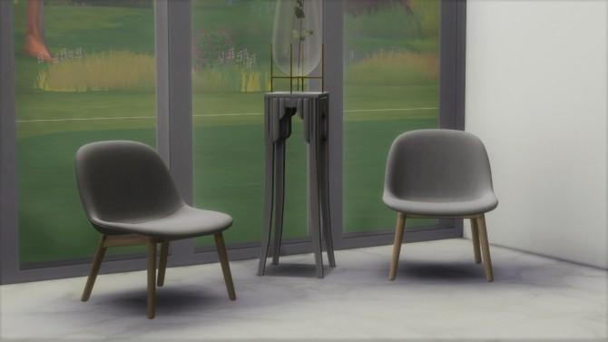 Sims 4 FIBER LOUNGE CHAIR WOODEN LEGS (P) at Meinkatz Creations