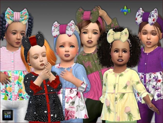 Shirt and headband for toddler girls by Mabra at Arte Della Vita image 9518 670x503 Sims 4 Updates